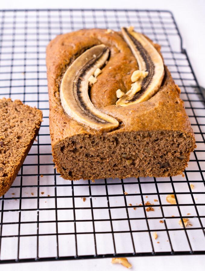 recept vegan bananen brood met spelt