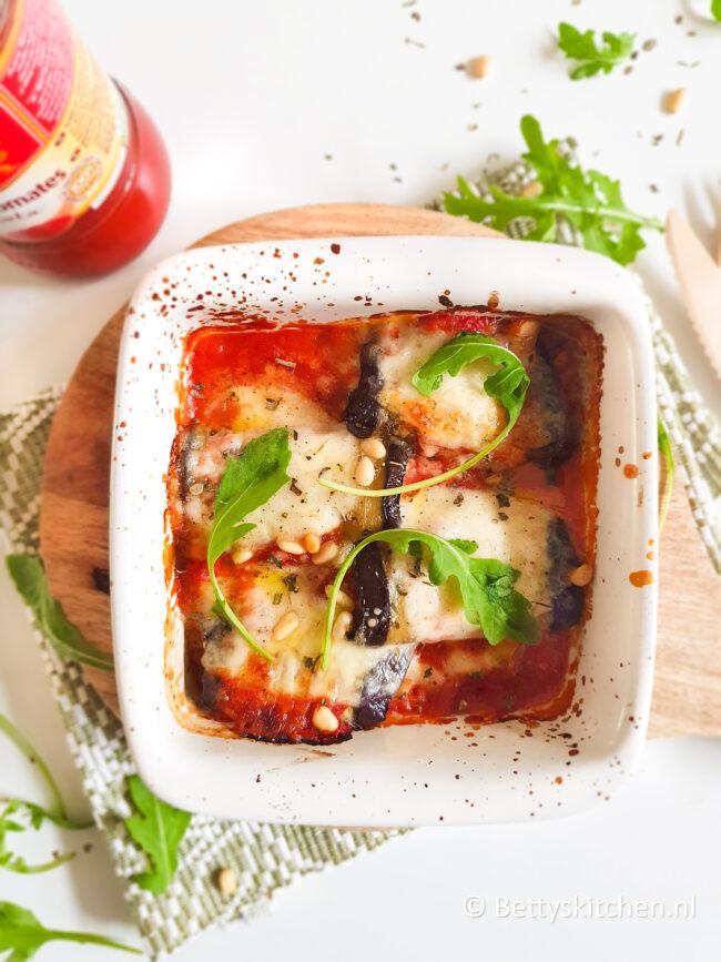 recept gevulde aubergine rolletjes vegetarisch