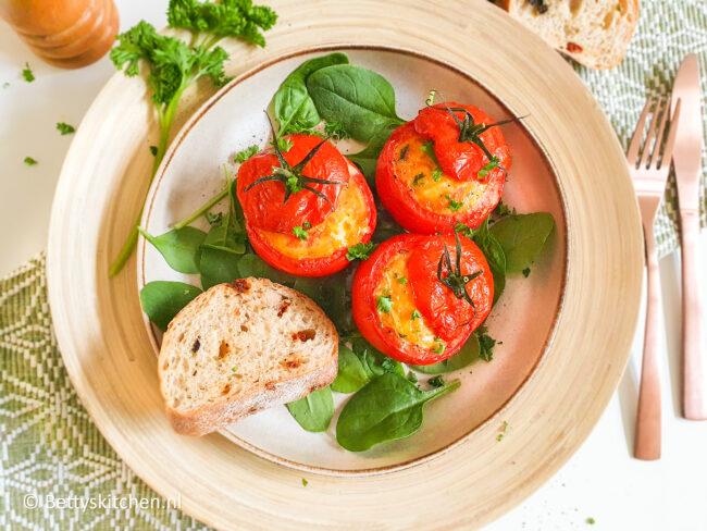 recept gevulde tomaten met ei © bettyskitchen.nl