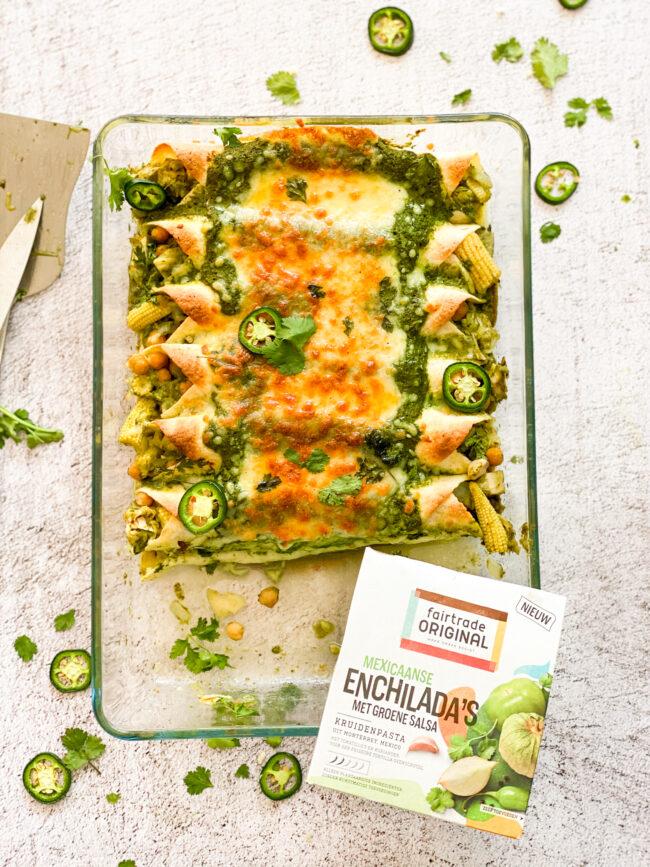 recept enchiladas met groene salsa en jackfruit © Bettyskitchen.nl