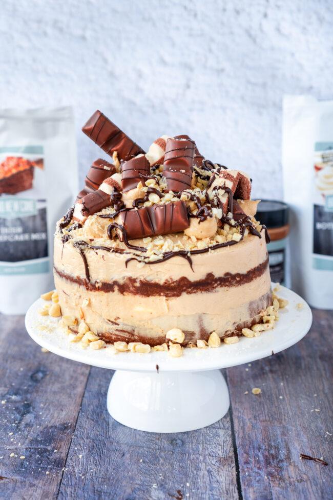 recept kinder bueno taart