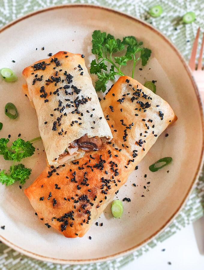recept vegetarische loempias met champignons en kaas © bettyskitchen.nl