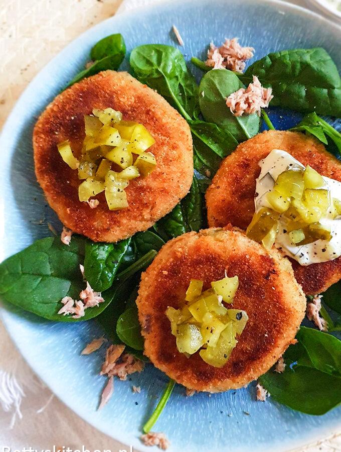 recept tonijnkoekjes met ravigottesaus © bettyskitchen.nl