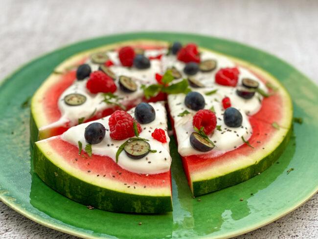 recept kidsproof watermeloen pizza © bettyskitchen.nl