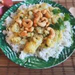 Bloemkool curry met halloumi