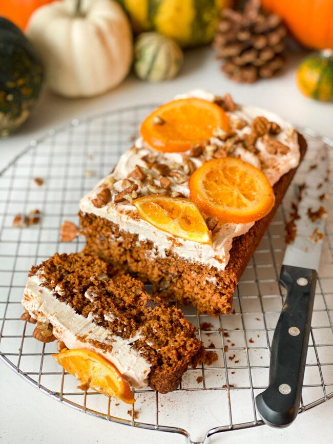 recept pompoenbrood met roomkaas © betty's Kitchen