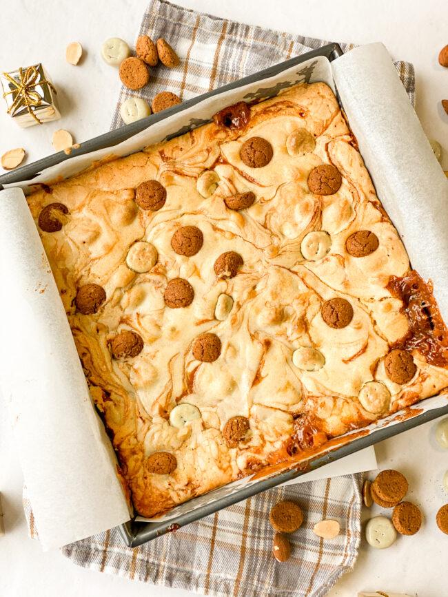 recept sinterklaas blondies met kruidnoten © bettyskitchen.nl