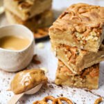 recept blondies met pretzels en pindakaas
