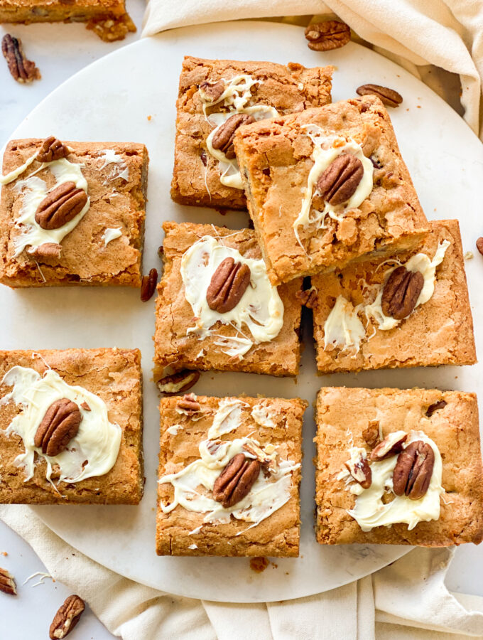 recept blondies met pecannoten maken © bettyskitchen.nl