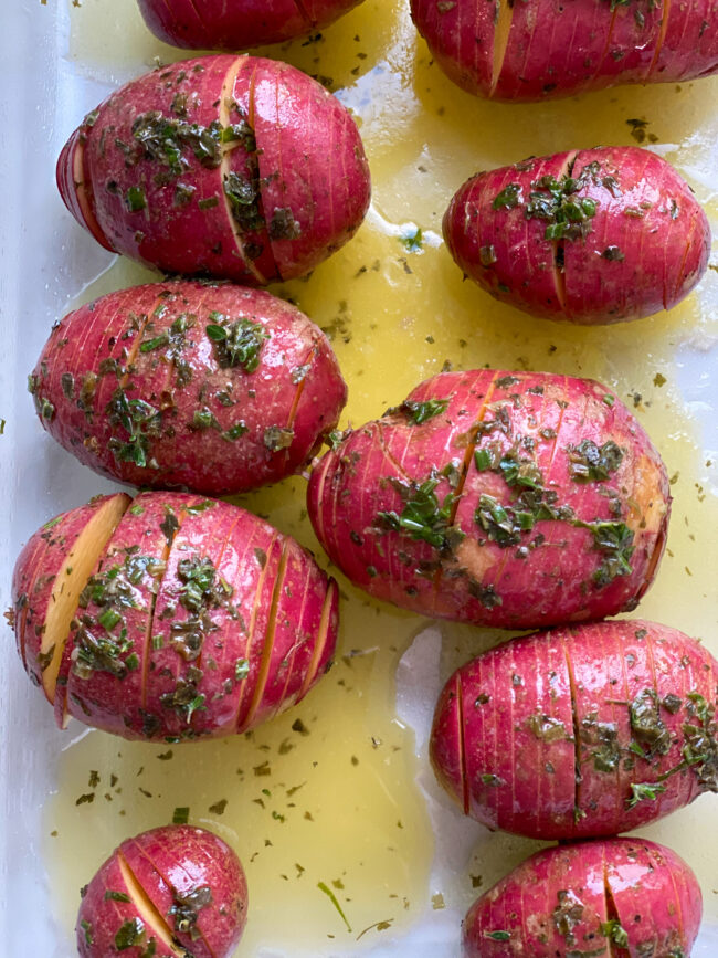 recept hasselback aardappels uit de oven © bettyskitchen.nl