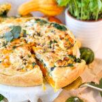 recept voor pompoen quiche met spinazie © bettyskitchen.nl