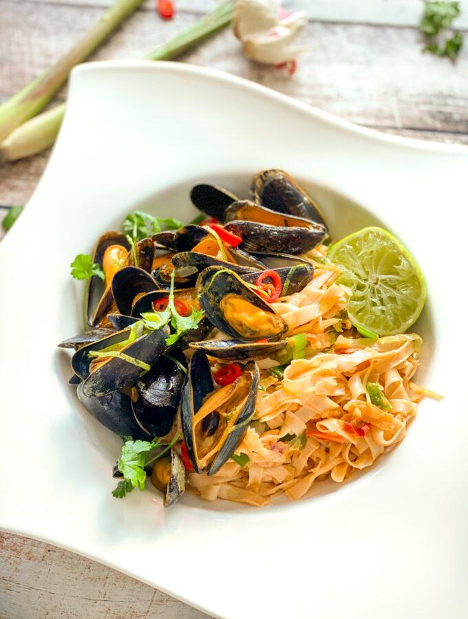 recept voor thaise mosselen met noodles © bettyskitchen.nl