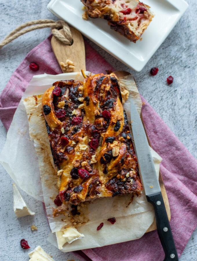 recept vlechtbrood met brie en cranberry © bettyskitchen.nl