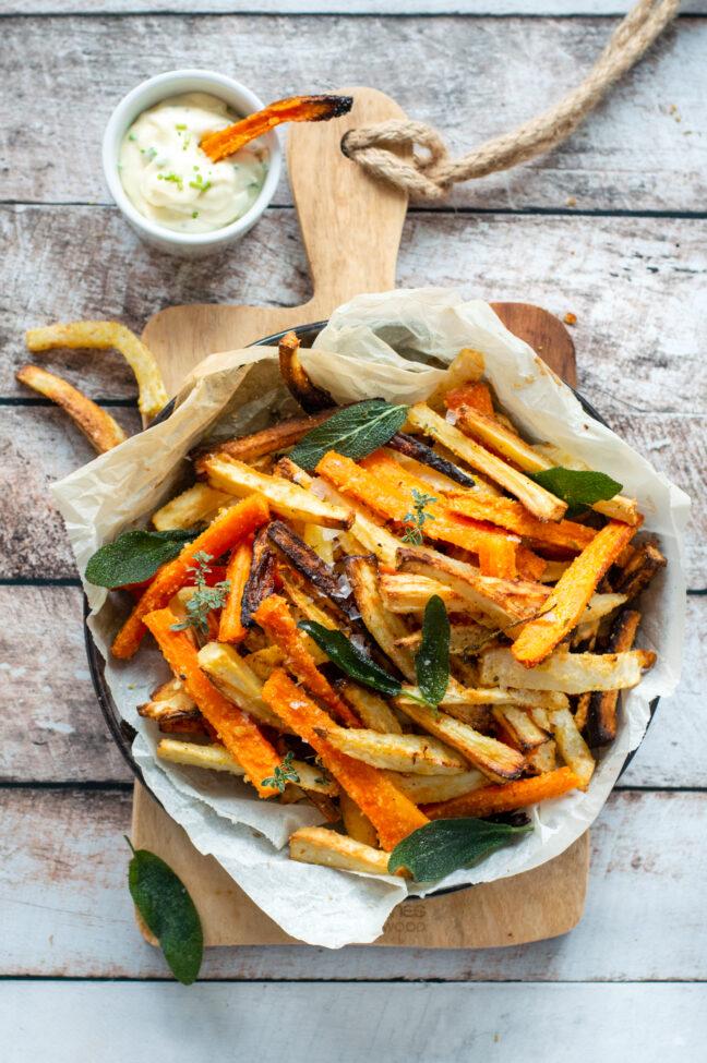 recept zelf groentefriet maken © betty's kitchen