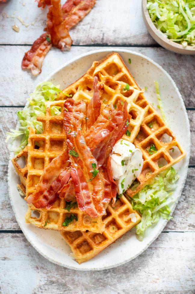 recept chaffles wafels met kaas © bettyskitchen.nl
