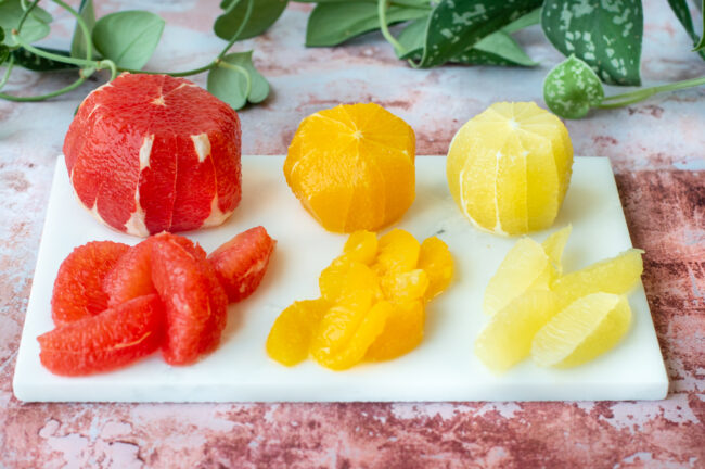 how to recept citrus partjes snijden sinaasappel grapefruit citroen © bettyskitchen.nl