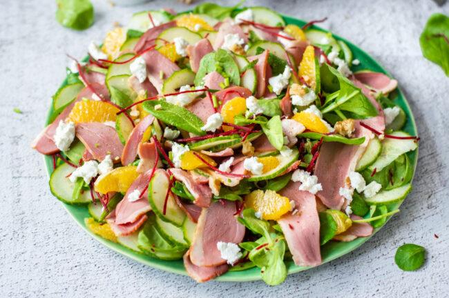 recept eendenborst salade met sinaasappel © bettyskitchen.nl