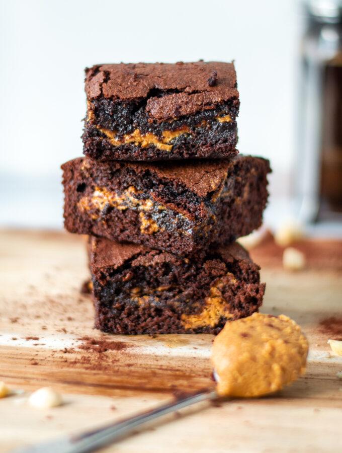 recept pindakaas brownies © bettyskitchen.nl