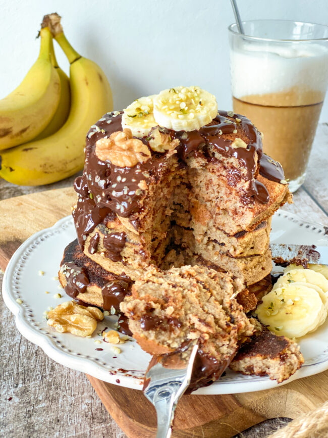 recept bananabread pancakes maken © bettyskitchen.nl