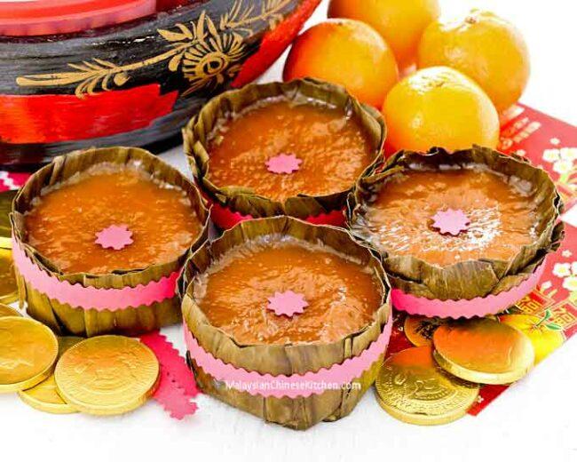 nian gao rijst cake chinees nieuwjaar