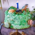 recept cake smash taart - dinosaurus - © bettyskitchen.nl
