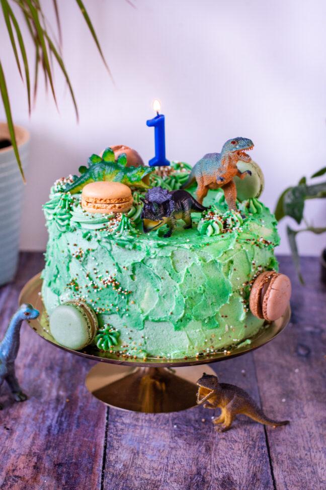 recept dinosaurus stapel taart - © bettyskitchen.nl