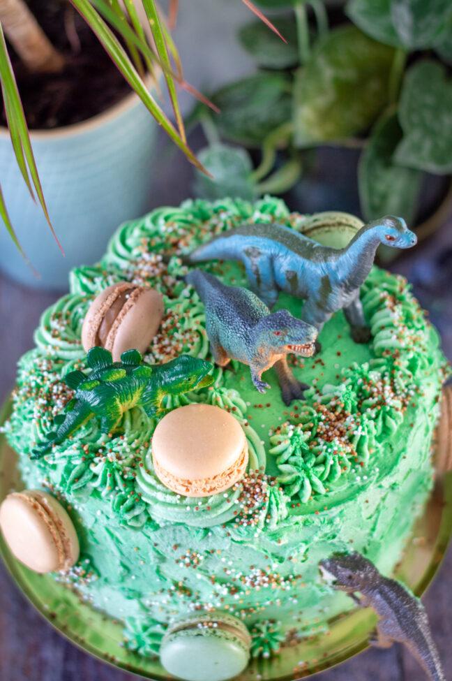 dinosaurus taart voor cake smash