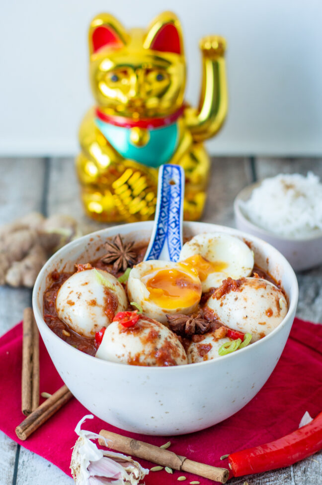 recept pittige eieren in Szechuan saus © bettyskitchen.nl