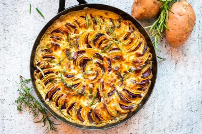 recept zoete aardappel gratin uit de oven © bettyskitchen.nl