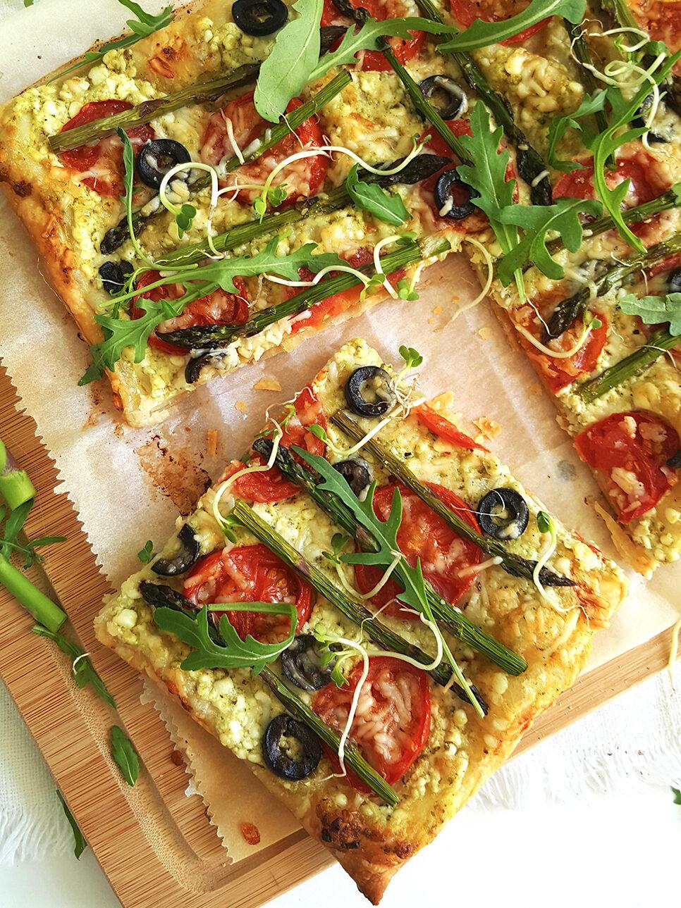 recept Plaattaart met asperges, tomaat en ricotta betty's kitchen