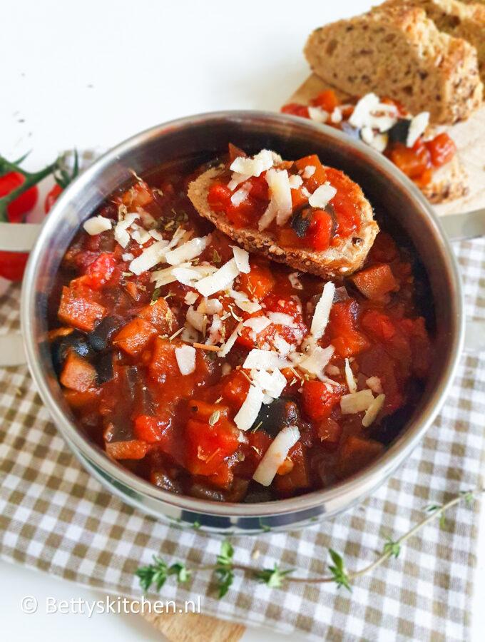 recept italiaans stoofpotje met aubergine © bettysktichen.nl