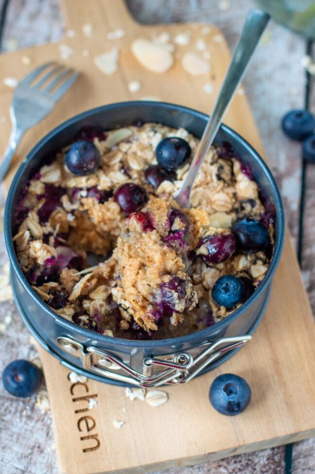 recept blueberry baked oats © bettyskitchen.nl