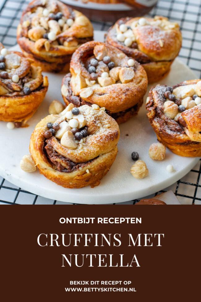 croissant muffins maken met nutella