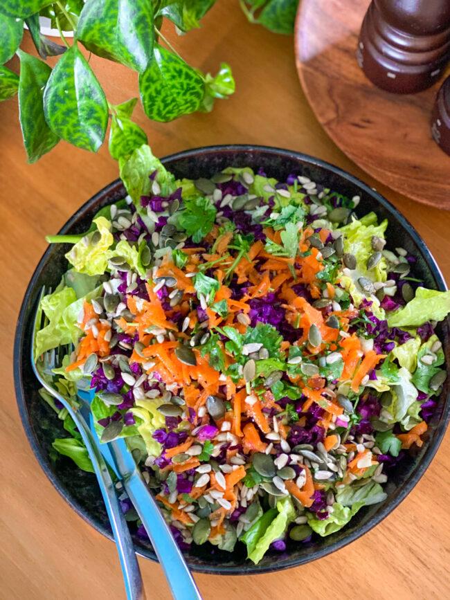 power salade met kool afte detox sapvasten