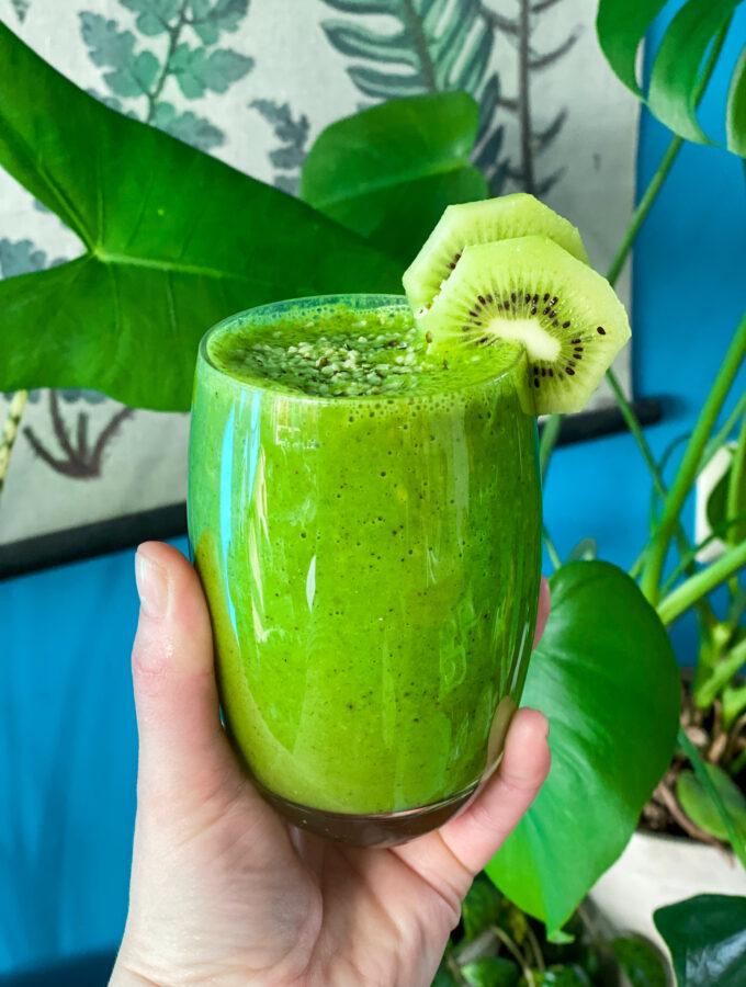 recept groene smoothie met kiwi © bettyskitchen.nl