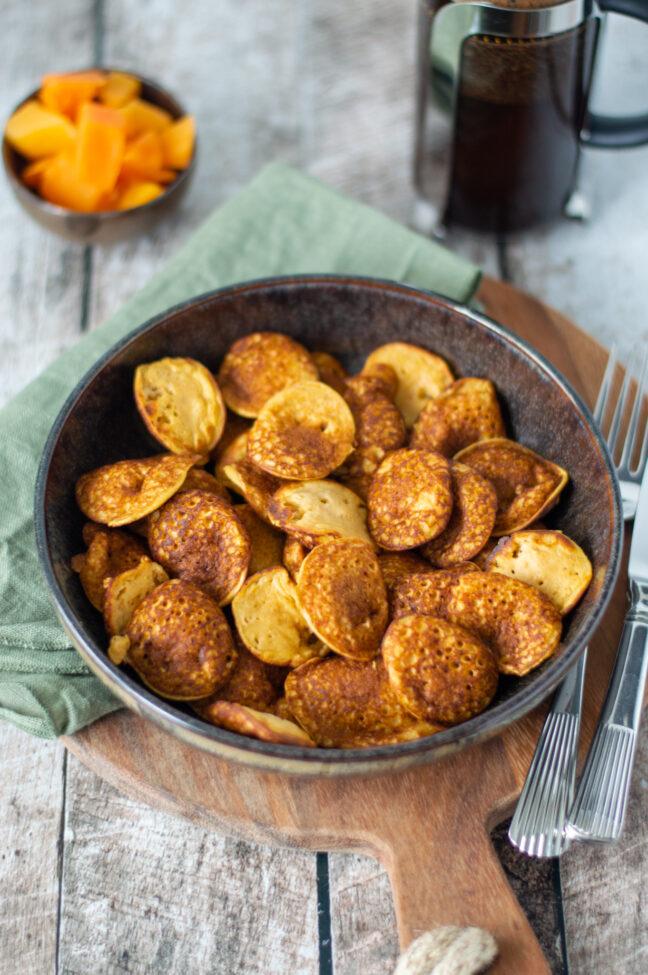 recept oranje poffertjes met pompoen © bettyskitchen.nl