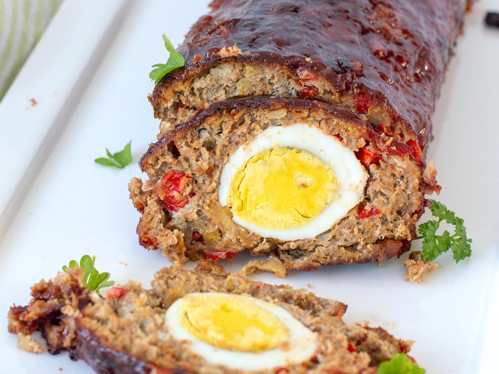 recept meatloaf maken gehaktbrood met eitje in midden © bettys kitchen