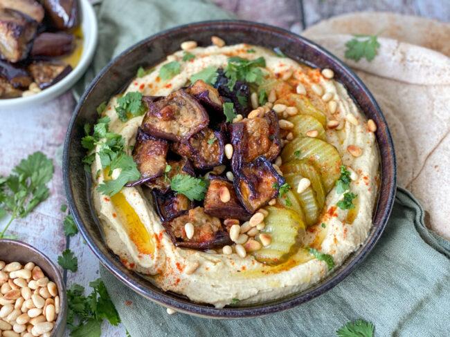 recept hummus bowl met aubergines © bettyskitchen.nl