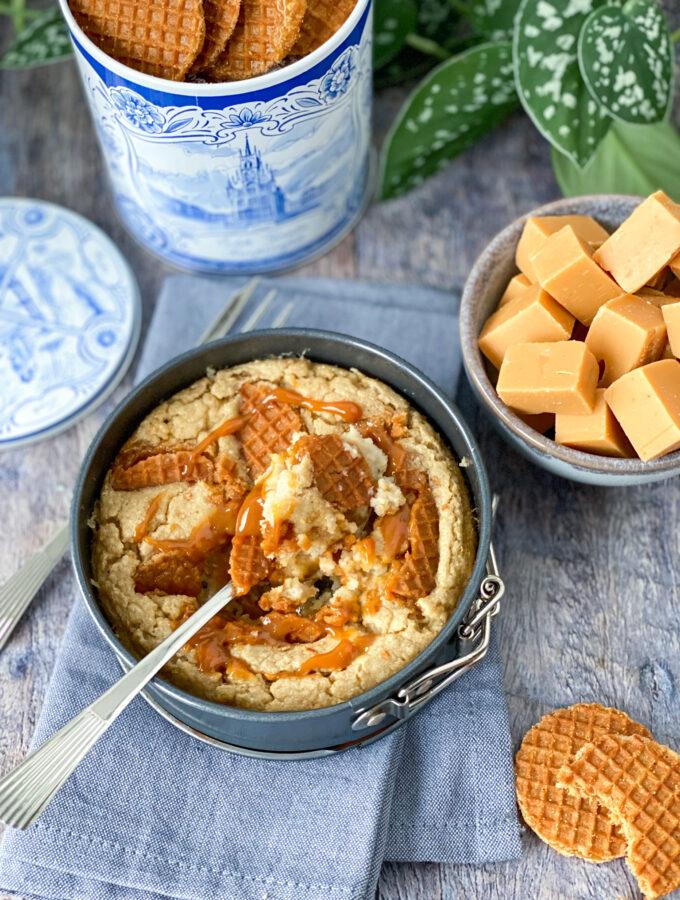 recept baked oats met stroopwafel © bettyskitchen.nl