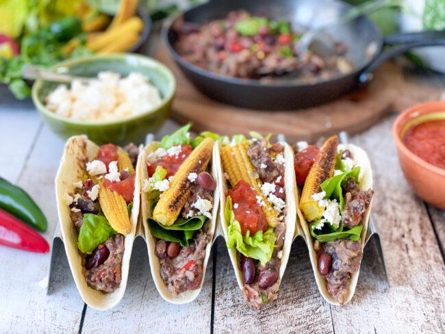 recept taco's met refried beans vegetarisch © bettyskitchen.nl