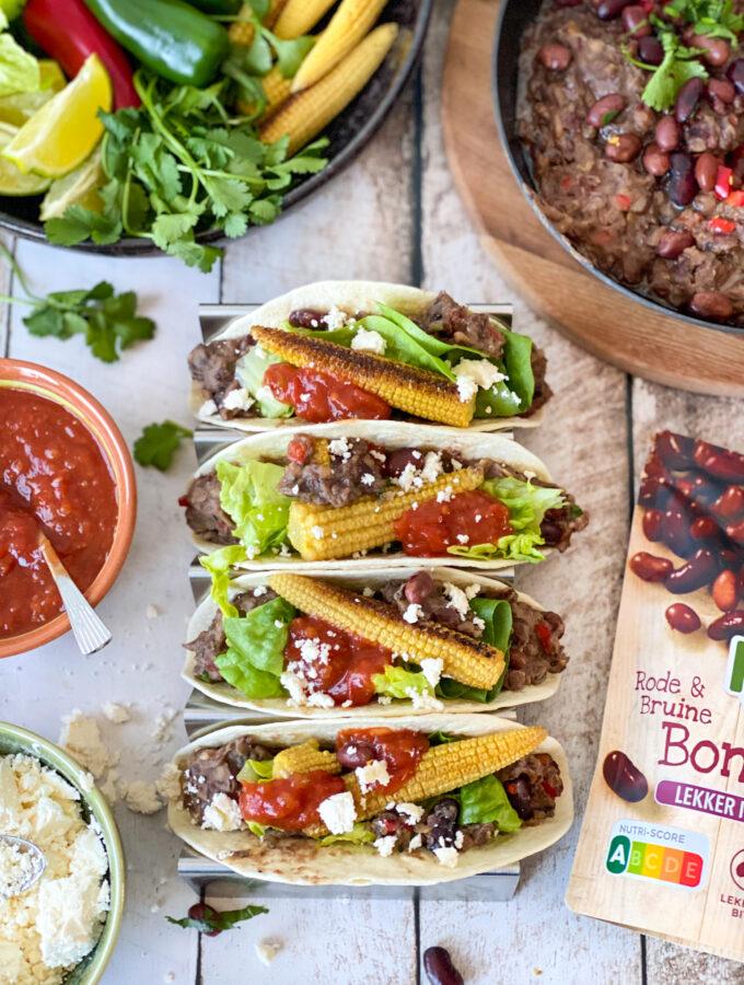 recept voor taco's met refried beans ©bettyskitchen.nl