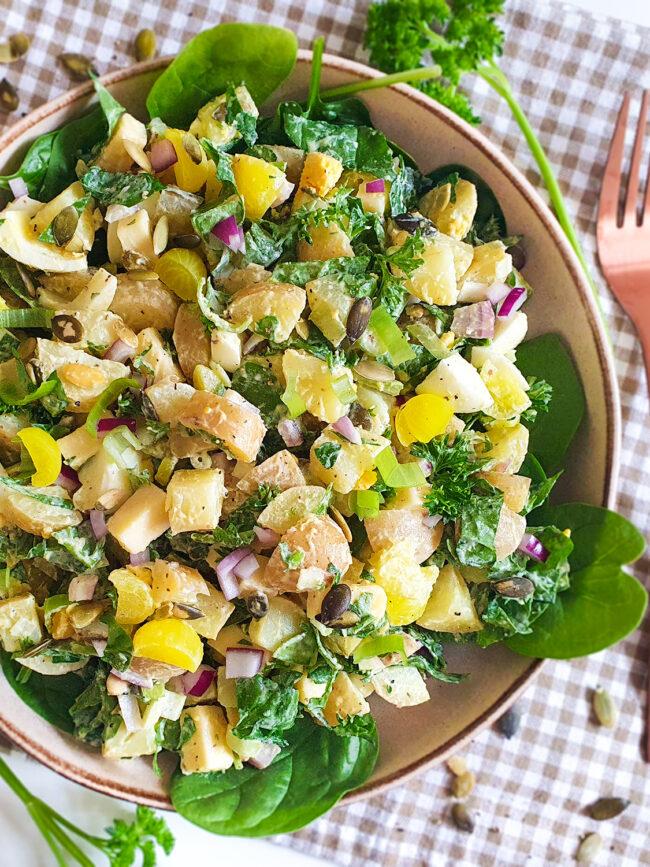 recept aardappelsalade met ei en kaas