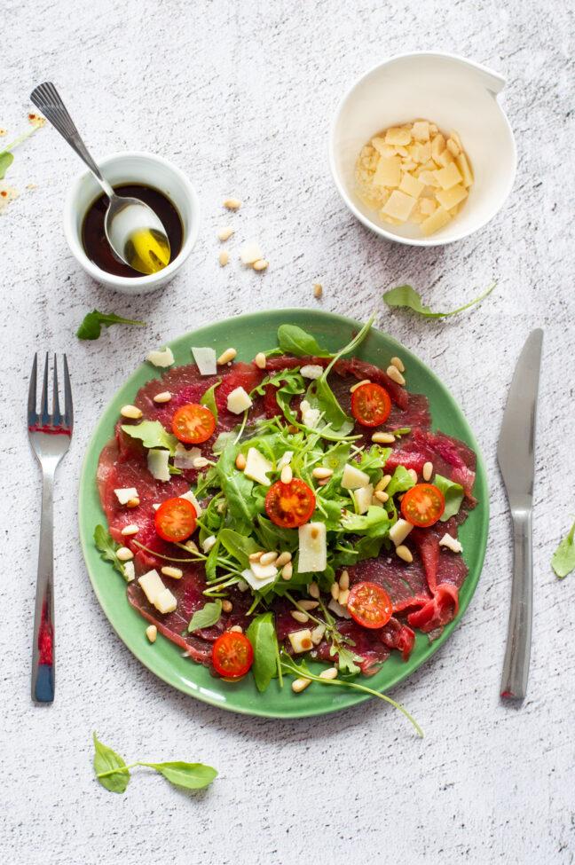 runder beef carpaccio salade © bettyskitchen.nl