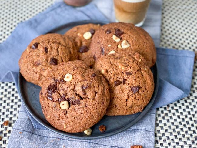 hazelnoot koffie koeken met chocolade © bettyskitchen.nl