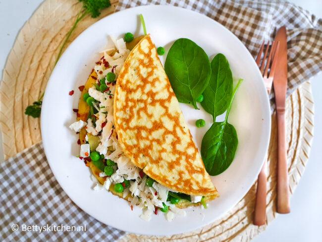 recept vega omelet met groene groenten © bettyskitchen.nl