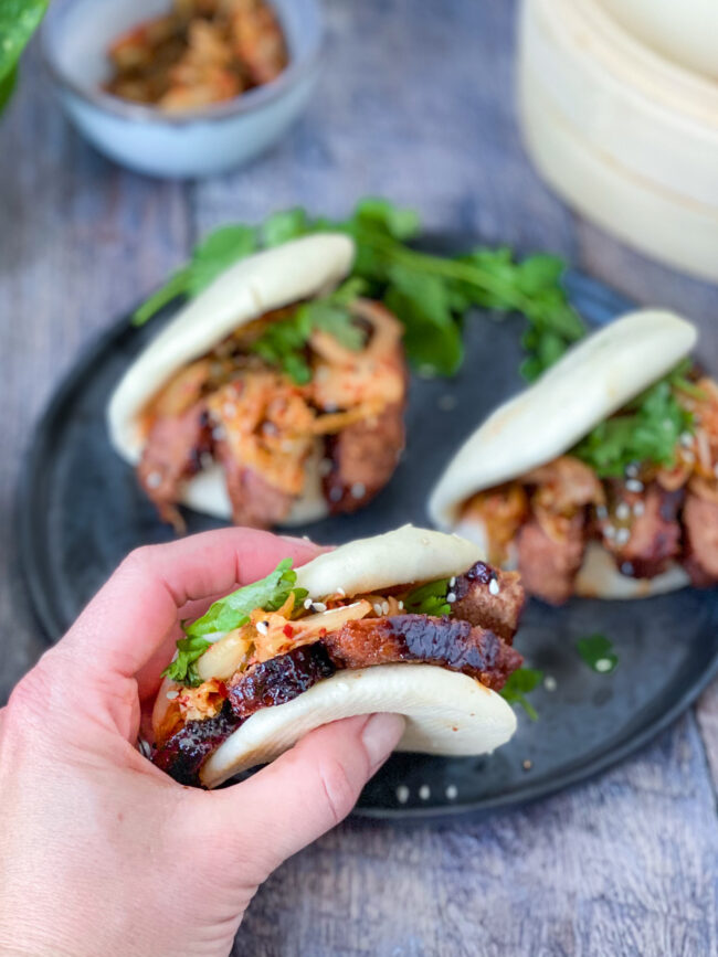 recept vegan korean beef bao buns met kimchi © bettyskitchen.nl
