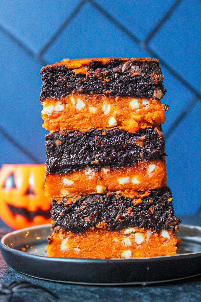 recept halloween brookies