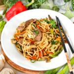 recept lo mein noodles maken met beef © bettyskitchen.nl